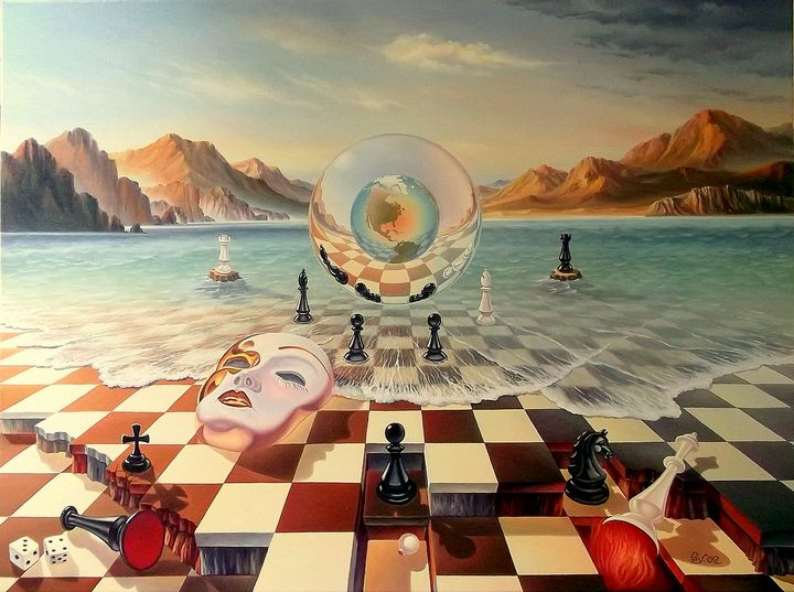 The fools rule the world - Surreal paintings - Gyuri Lohmuller