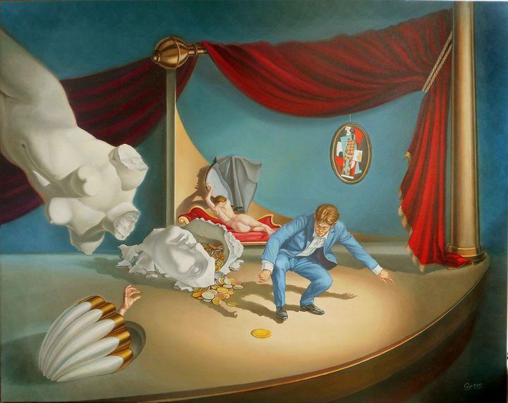 Money matters - Surreal paintings - Gyuri Lohmuller