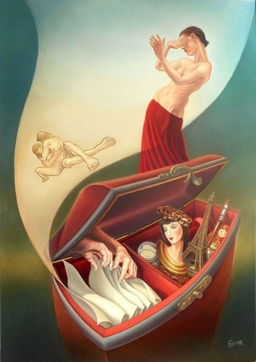 Someone disturbs my memories - Surreal paintings - Gyuri Lohmuller