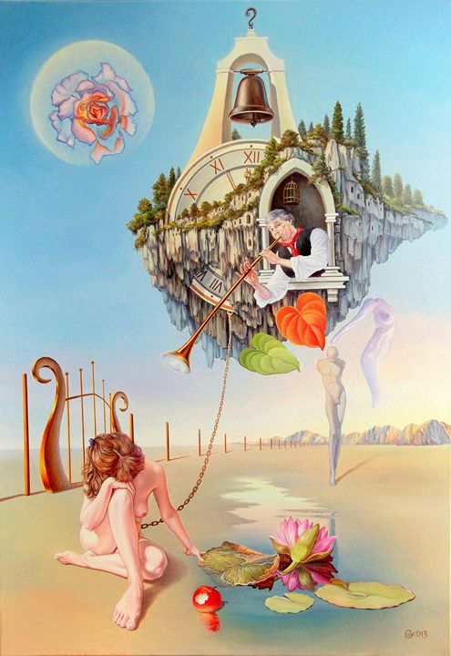 Between two worlds - Surreal paintings - Gyuri Lohmuller
