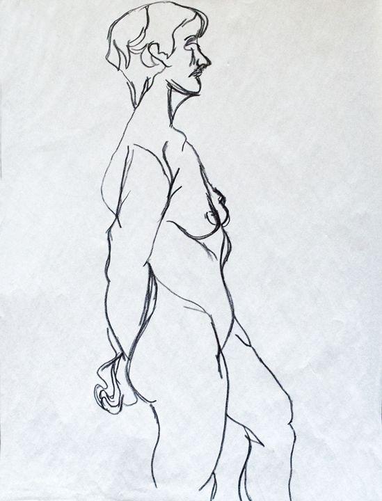 Nude figure drawing - Bennett Rambo