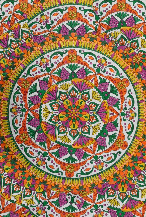 Orange flower mandala - Edy Art Gallery