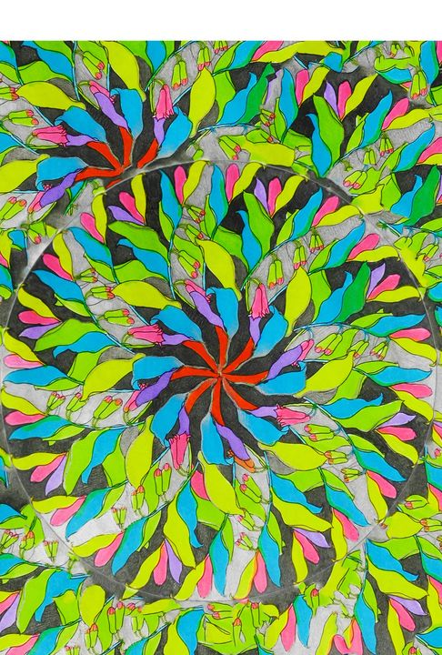 Mandala leaves blend - Edy Art Gallery