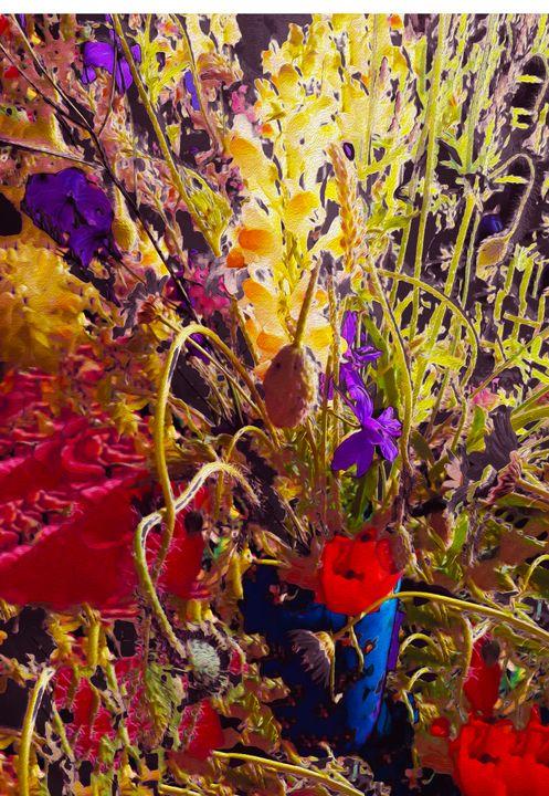 Flower vase explosion - Edy Art Gallery