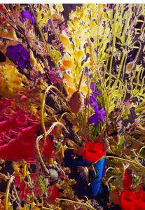 Flower vase explosion