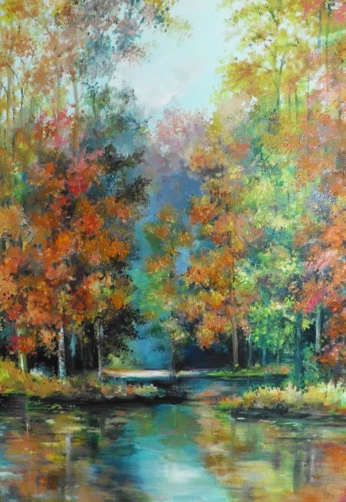 Autumn forest scene - Edy Art Gallery