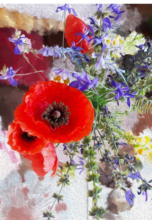 Poppy baroque - Edy Art Gallery