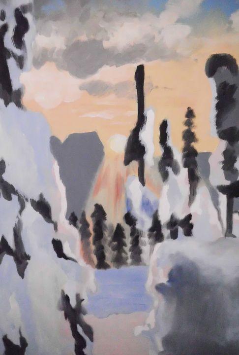Winter landscape - Edy Art Gallery