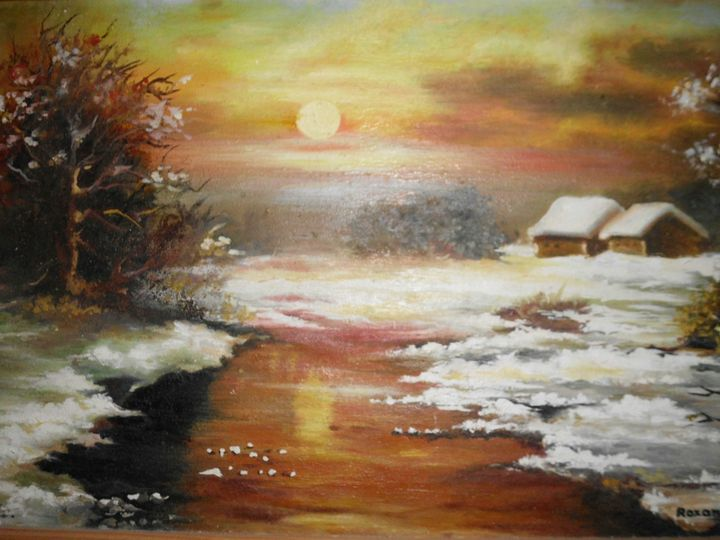 Winter sunset scene - Edy Art Gallery