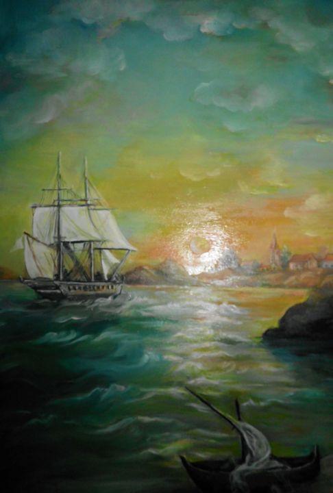 Sea sunset landscape - Edy Art Gallery