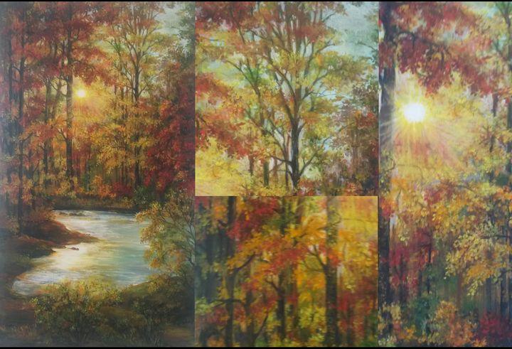 Autumn landscape collage - Edy Art Gallery