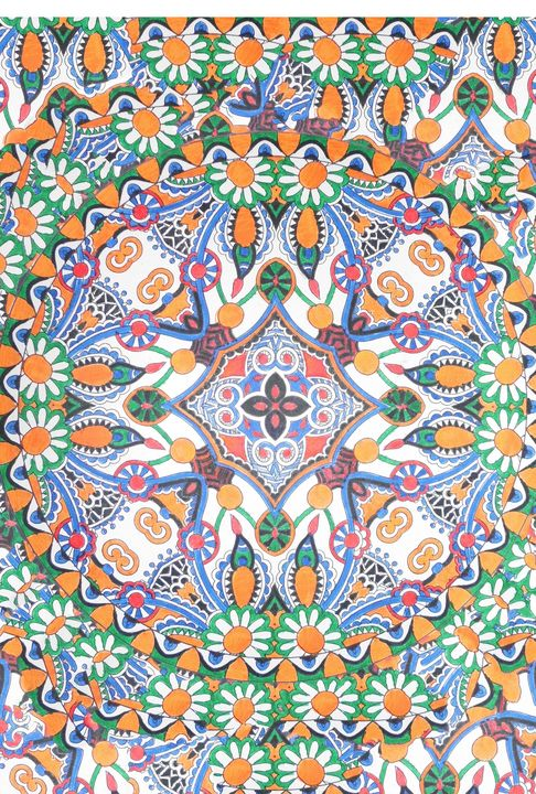 Mandala daisy flower tradition - Edy Art Gallery