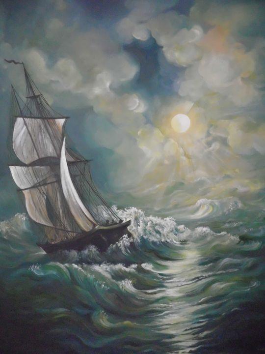 Storm ending bt the sea - Edy Art Gallery