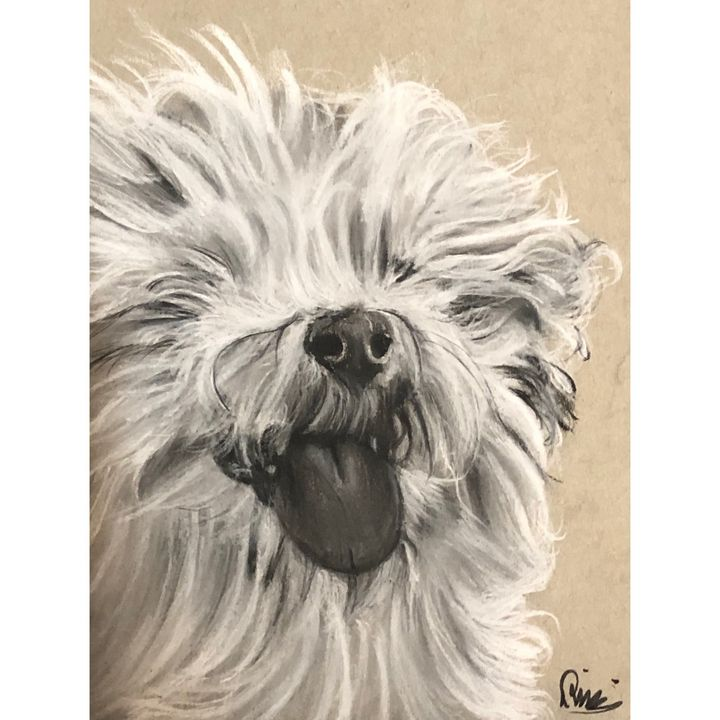 Dog Drawing - RicciArtwork