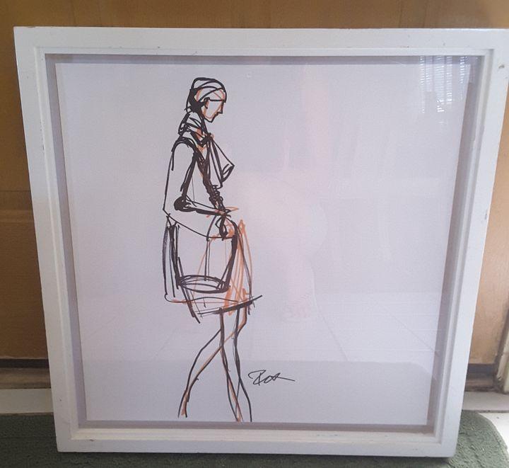 Signed Original Fashion Sketch - One of a Kind Designs