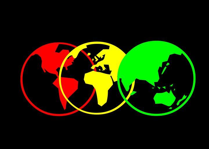 Red Yellow Green World Map - Dank Mosquito
