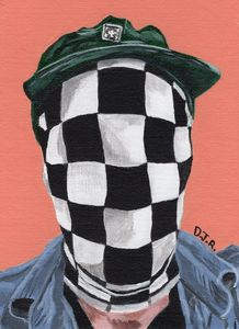 Man In Checkered Mask