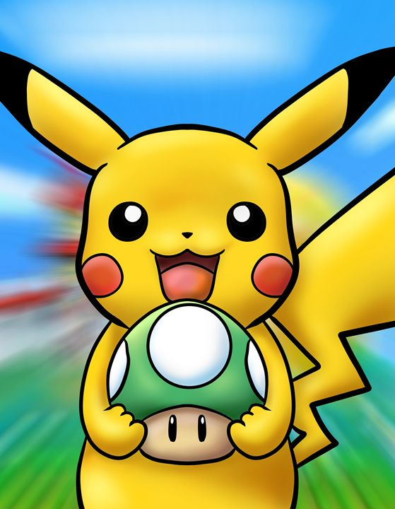 Happy Pikachu's One Up - ArtistsrsCreations