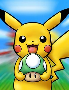 Happy Pikachu's One Up