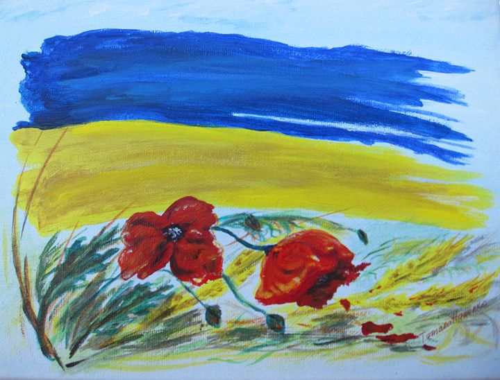 My Ukraine. Acrylic, canvas. 9x12 - Paintings by Tamara Hanenko