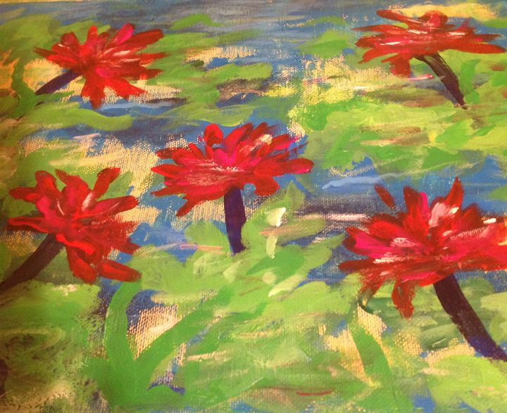A Summer day. Acrylic, canvas. 9x12 - Paintings by Tamara Hanenko