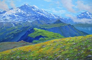 The Mountains Motive. Fine Art.