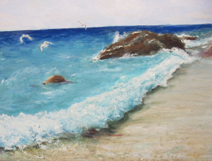 The Blue Wave. Oil, canvas. - Paintings by Tamara Hanenko