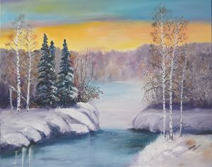 A Blue Winter. Oil, canvas.