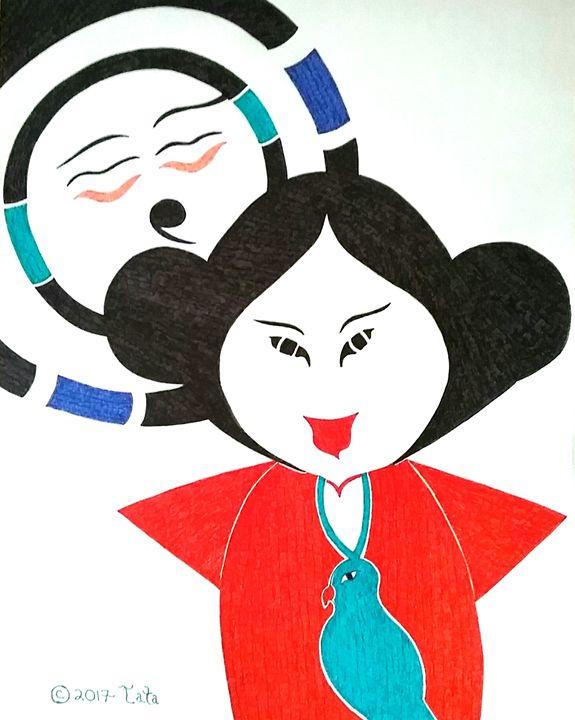 Geisha Doll Embracing the Sun - Tata Kimfa