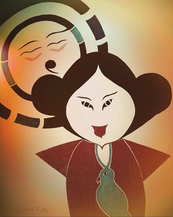 Geisha Doll Embracing the Sun Two - Tata Kimfa