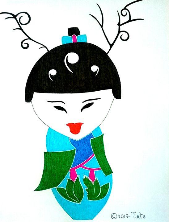 Geisha Wildflower Doll - Tata Kimfa