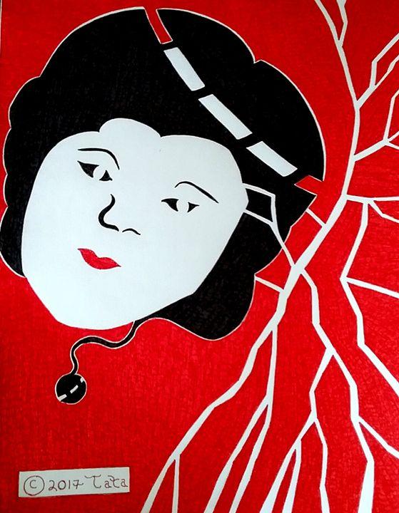 Geisha Doll Behind Her Roots - Tata Kimfa
