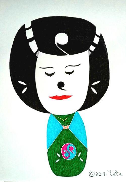 Geisha Clown Doll - Tata Kimfa