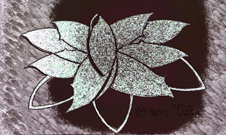 Lotus Petals Shimmering in Rock - Tata Kimfa