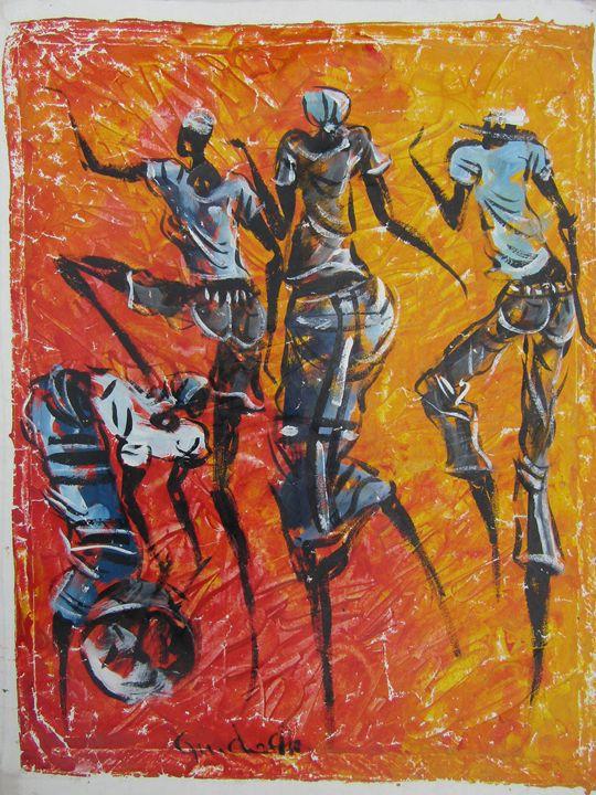 African dancers - African Art