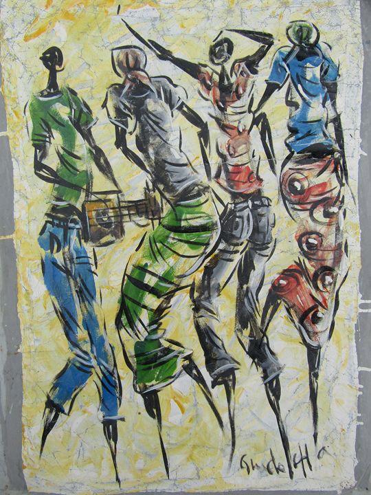 People dancing - African Art
