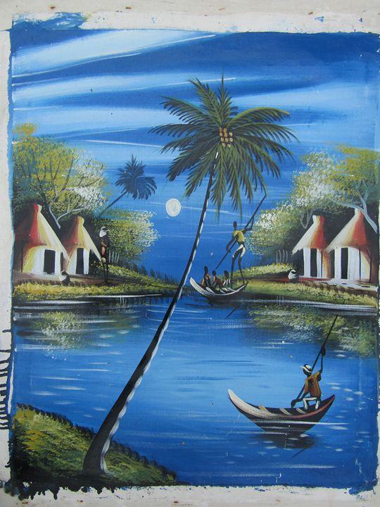 African fisherman - African Art