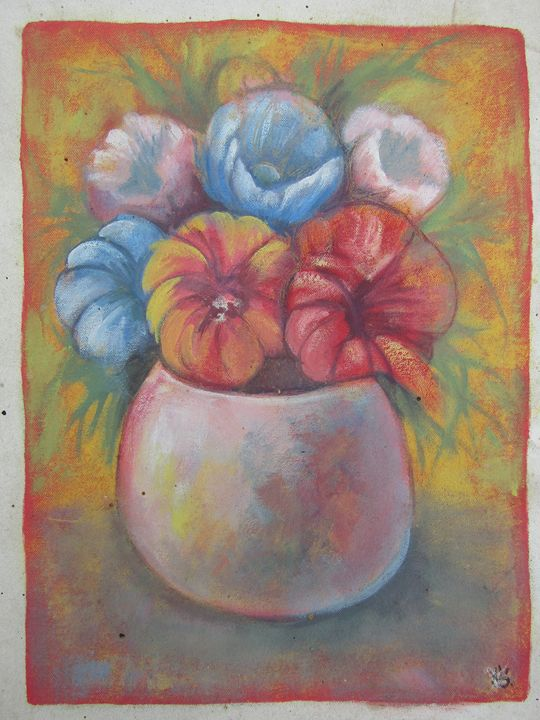 The flowers - African Art