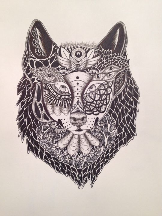 Abstract Wolf Maelid Drawings Illustration Animals