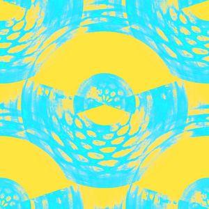 Aqua and Yellow Abstract