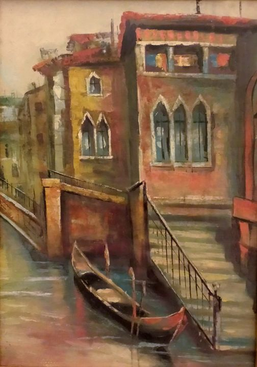 Boat in Venice - European Vintage Gallery