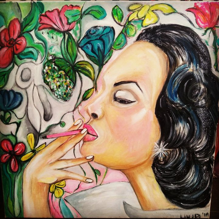 Pink cigarette - Livia Pervaz