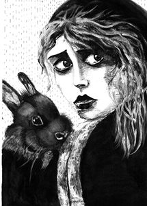 Chica con conejo
