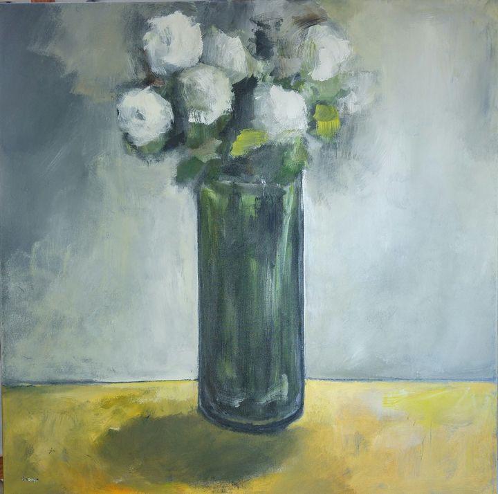 White Blomms - Eat Pray Love Art