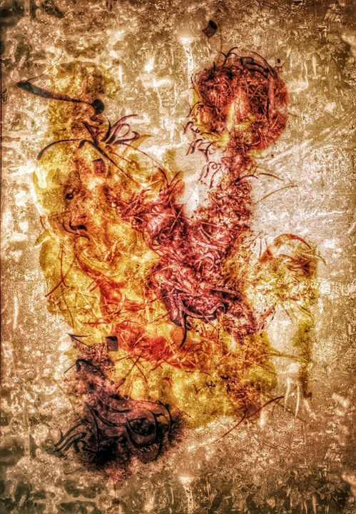 Canvas art/ Calligraphy - Alif
