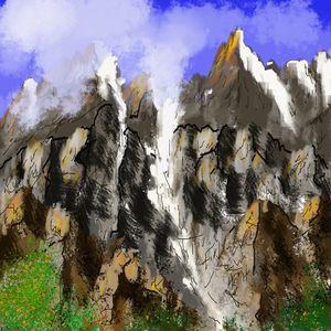 Mountain slopes and peaks - alozadea