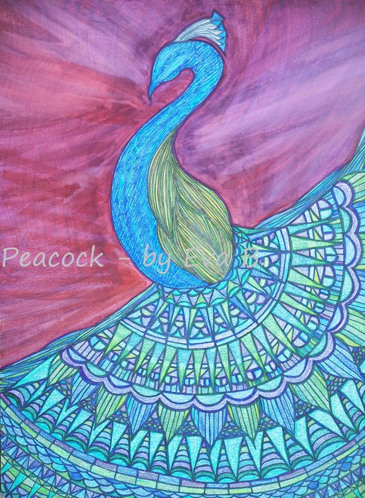 Peacock - Buttercup's Art and Collectables