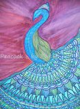 Drawing Of Peacock
