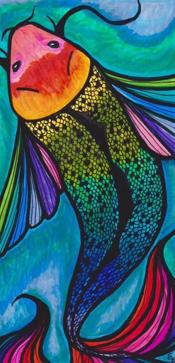 Rainbow Koi - Buttercup's Art and Collectables