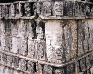 Platform Of The Skulls Chichen Itza